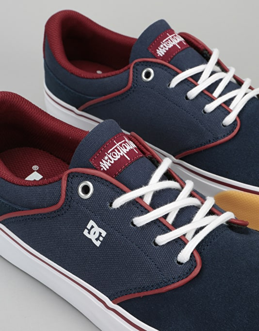 DC Mikey Taylor Vulc Skate Shoes - Navy/Red