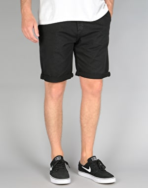 Route One Roll Up Printed Chino Shorts - Polka Black