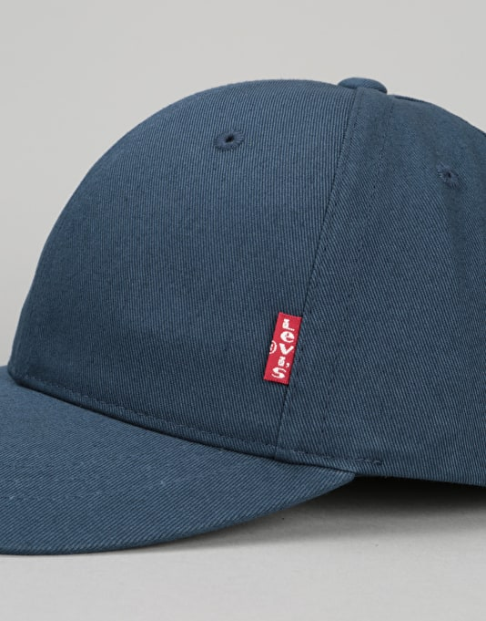 Levis Classic Twill Red Tab Baseball Cap - Navy Blue