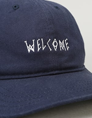 Welcome Scrawl Unstructured Slider Cap - Navy