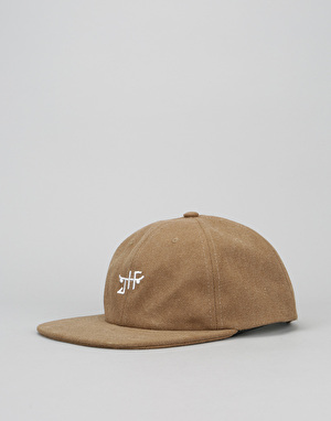 Just Have Fun Unconstructed Strapback Cap - Brown