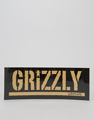 Grizzly Gold Stamp Logo Sticker