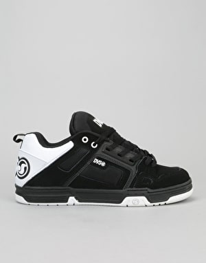 DVS Comanche Skate Shoes - Black/White/Black