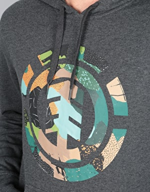 Element Cut Out Icon Pullover Hoodie - Charcoal Heather