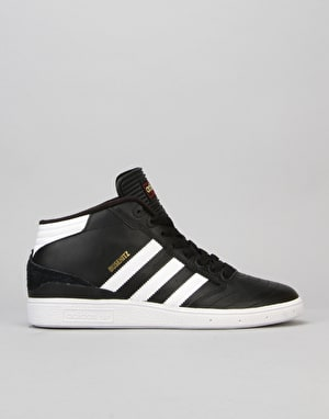 Adidas Busenitz Pro Mid Skate Shoes - Black/White/Gold