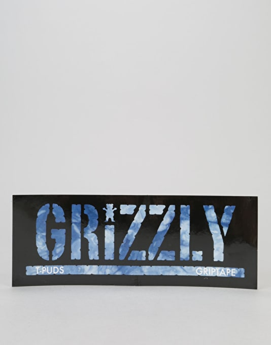 Grizzly Hot Box Stamp Logo Sticker