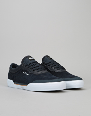 Lakai Staple Skate Shoes - Navy Suede