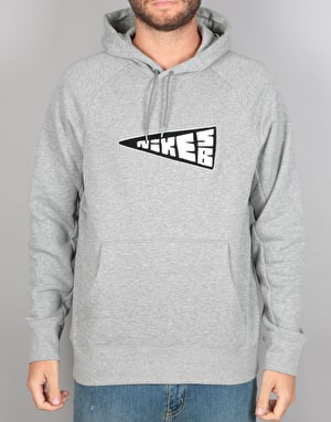 Nike SB Icon Banner Pullover Hoodie - Dark Grey/Heather