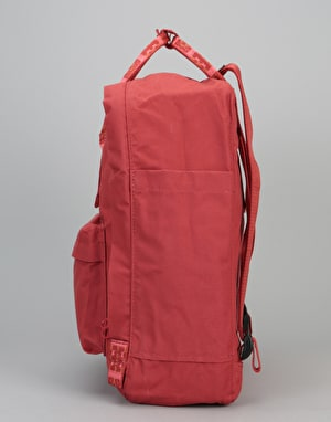 Fjällräven Kånken Backpack - Deep Red/Folk Blocked