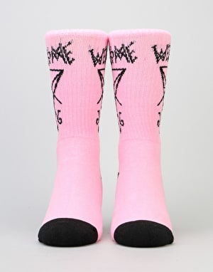 Welcome Lui Lui Socks - Pink/Black