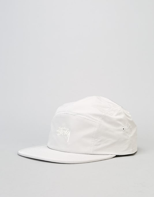 Stüssy Nylon Poly Stock Logo Camp 5 Panel Cap - Light Khaki