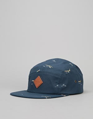 Globe Wallace 5 Panel Cap - Navy/Multi