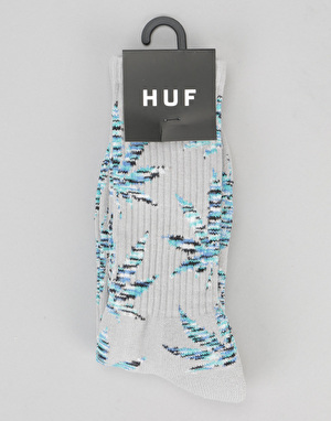 HUF Melange Plantlife Crew Socks - Grey Heather/Blue
