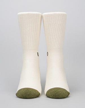 Stance x Brixton Surplus Classic Crew Socks - Natural