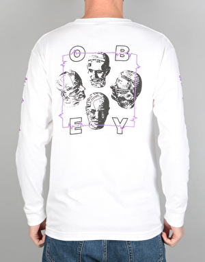 Obey Wave Lengths L/S Shirt - White