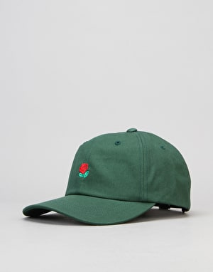 The Hundreds Rose Strapback Cap - Forest Green