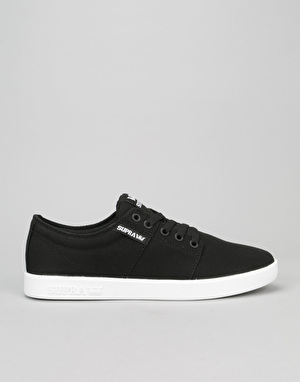 Supra Stacks II Skate Shoes - Black/White