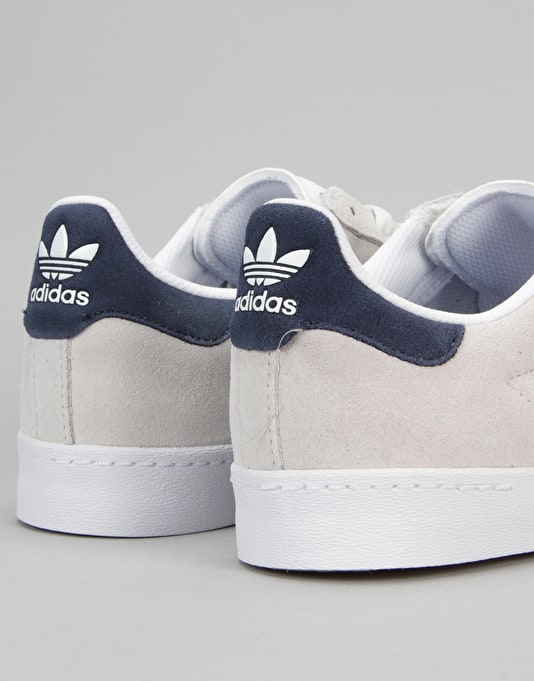 Adidas Superstar Vulc ADV Skate Shoes - Crystal White/Navy/White