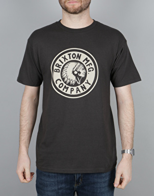 Brixton Rival T-Shirt - Washed Black/Grey