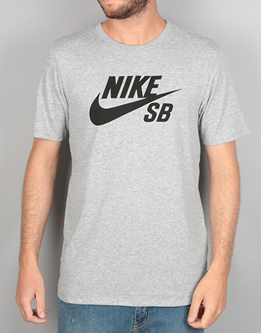 8b3120887471 Nike SB Logo T-Shirt - Dark Grey Heather Black