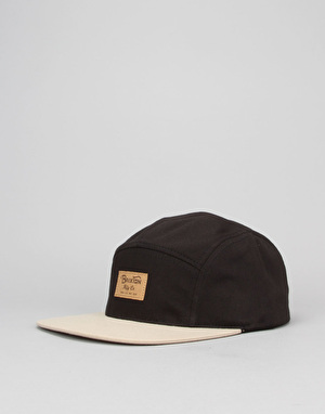 Brixton Grade 5 Panel Cap - Black/Tan
