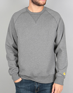 Carhartt College Sweat - Dark Grey Heather/Gold