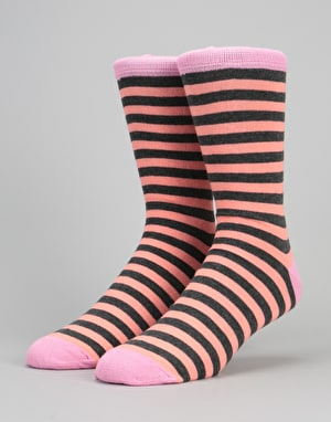 Route One Contrast Socks - Pink/Grey