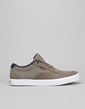 State x Isle  Madison Skate Shoes - Walnut/White Suede/Canvas