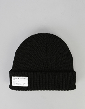 New Era Lightweight Patch Cuff Beanie - Black