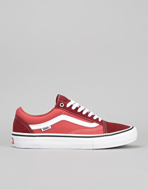 Vans Old Skool Pro Skate Shoes - (Two-Tone) Madder Brown/Cinnabar