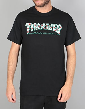 Thrasher Roses T-Shirt - Black