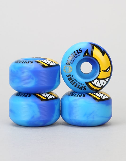 Spitfire Bighead Code Blue Swirls 99d Team Wheel - 52mm
