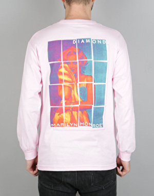 Diamond Supply Co. x Marilyn Monroe Stagger LS T-Shirt - Pink