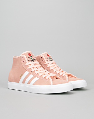 Adidas Matchcourt High RX Skate Shoes - Haze Coral/White/Haze Coral