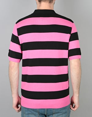 Stüssy Stripe Polo Shirt - Pink