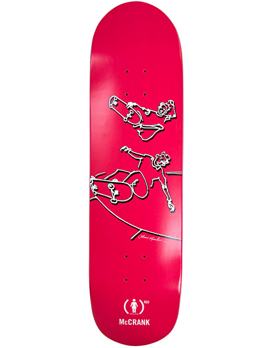 Girl x (PRODUCT) RED x Lance Mountain McCrank Skateboard Deck - 8.5""