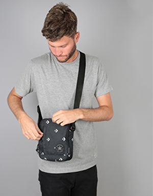 Converse Cross Body Bag - Star Chevron Repeat Black