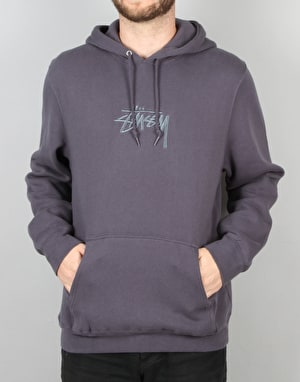 Stüssy New Stock Applique Hoodie - Midnight