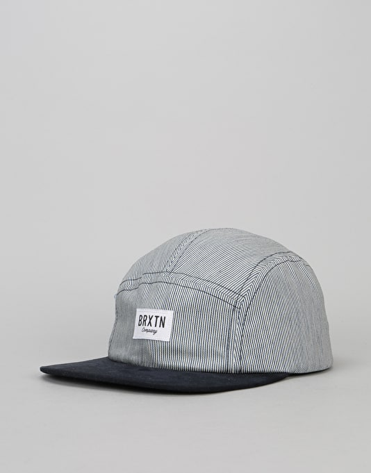 Brixton Hoover 5 Panel Cap - Navy/White