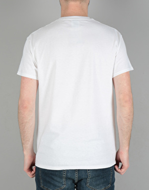 Ben Davis Classic Patch Logo Pocket T-Shirt - White