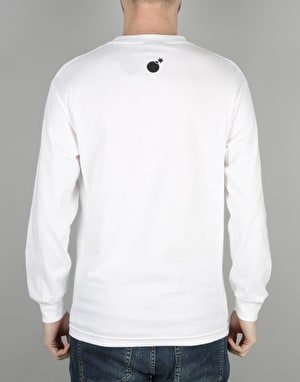 The Hundreds Forever Slant Logo Long Sleeve T-Shirt - White
