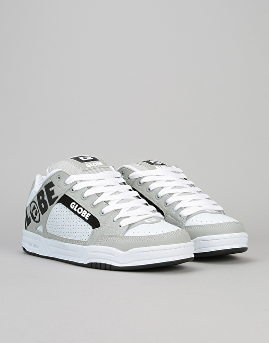 Globe Tilt Skate Shoes - White/Grey/Black