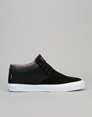 Lakai Daly Mid (MJ Mid) Skate Shoes - Black Suede