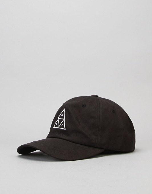 HUF Triple Triangle Curve Brim Cap - Black