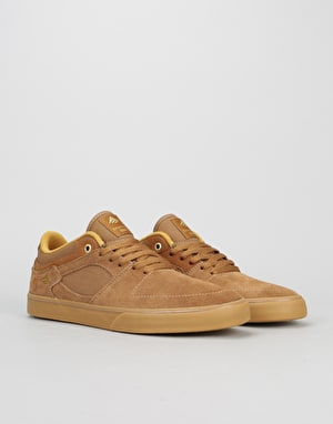 Emerica The Hsu Low Vulc Skate Shoe - Brown/Gum
