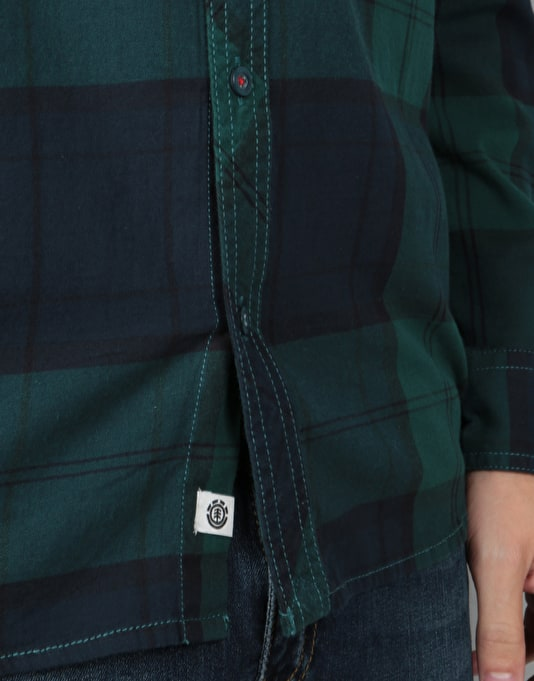 Element Buffalo L/S Shirt - Ponderosa Green