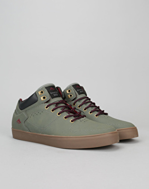 Emerica The Hsu G6 Skate Shoes - Grey/Gum/Red