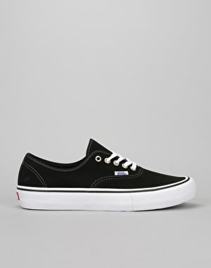 Vans Authentic Pro Skate Shoes - Black Suede