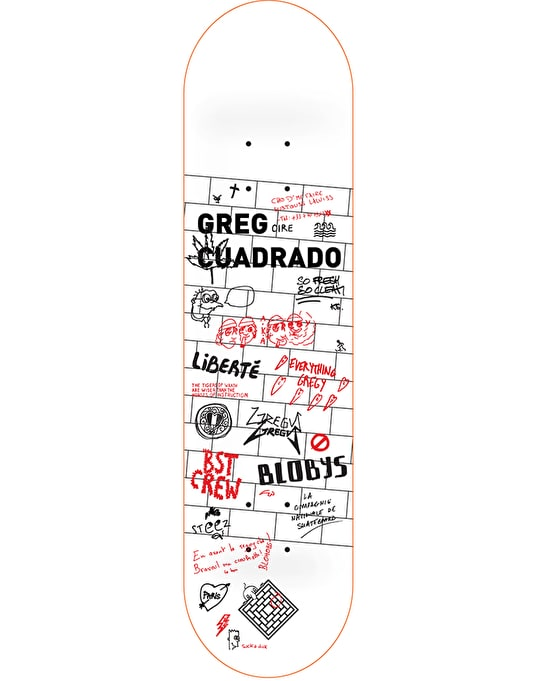 The National Skateboard Co. Cuadrado Wall Pro Deck - 8.125""
