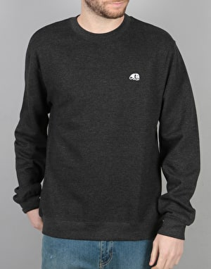 Enjoi Panda Patch Crew Sweatshirt - Charcoal Heather